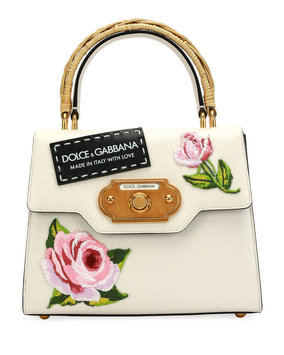 D & G Welcome Medium Vintage Top-Handle Bag