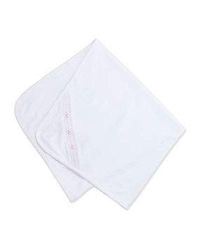 Kissy Kissy CLB Medley Pima Blanket, White/Pink