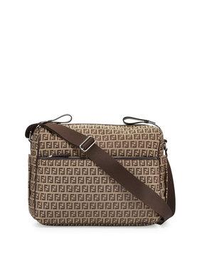 Fendi Kids - All Over Diaper Bag (Brown) Diaper Bags