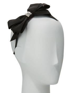 Bari Lynn Girls' Grosgrain Bow Headband, Black