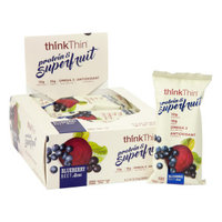 Think Thin 964598 2.22 oz Blueberry Beet Acai Protein Bars Pack of 12