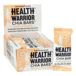 Health Warrior 989534 0.88 oz Vanilla Almond Chia Bar Pack of 4