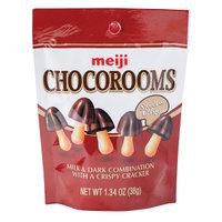 Chocorooms 31683 1.34 oz Meiji Chocorooms Sweet & Crispy Cracker 12 Count - Pack of 4
