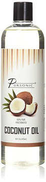 Pursonic 100% Pure Fractionated 16-ounce Coconut Oil for Massages, Therapeutic Recipes & Essential Oils