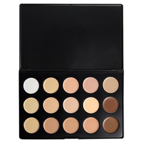 OPV Beauty 15 Color Concealer Palette Cream Base