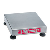 Ohaus D25QR Defender Square Bench Base 50 LB/25 KG Capacity