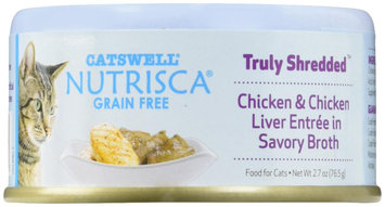 Dogswell Catswell Nutrisca Truly Shredded Chicken & Chicken Liver Entr e in Savory Broth Canned Cat Food
