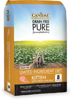 CANIDAE Grain Free PURE Foundations Kitten Formula Made With Fresh Chicken, 5 lbs.