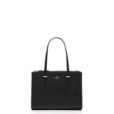 cedar street small jensen tote bag, black, Women's - kate spade new york