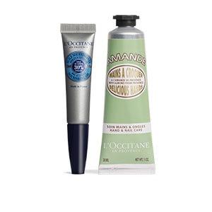 L Occitane Shea Butter Cuticle Oil & Almond Hand Cream Duo L'Occitane