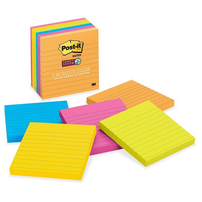 3M Post-it Super Sticky Lined Note Pads