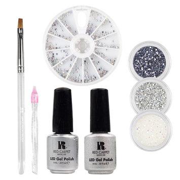 Red Carpet Manicure Gems & Jewels Platinum Ice LED Gel Polish Nail Art Kit
