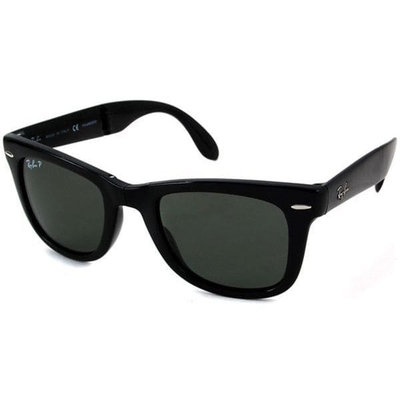 Ray-Ban RB 4105 601-58 50 Wayfarer Folding Black Plastic Frame Polarized Lenses Sunglasses