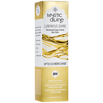 Mystic Divine 3VV Violet Dark Brown Liqui-Creme Permanent Hair Color