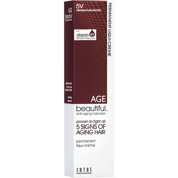 Zotos 5V Medium Plum Brown Permanent Liqui-Creme Hair Color