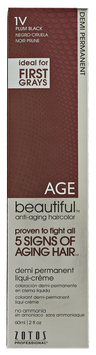AGEbeautiful Anti-Aging Demi Permanent Liqui-Creme Haircolor 1V Plum Black