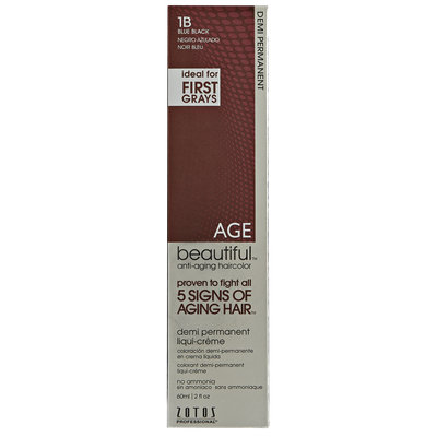 AGEbeautiful Anti-Aging Demi Permanent Liqui-Creme Haircolor 1B Blue Black