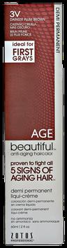 AGEbeautiful Anti-Aging Demi Permanent Liquid Haircolor with Vitamin E 3V Darkest Plum Brown