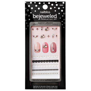 Nail Bliss She's Gotta Have It Bejeweled Nail Art