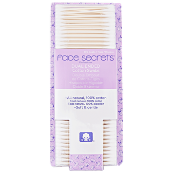 Face Secrets Double Tipped Cotton Swabs 500ct.