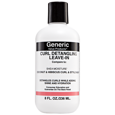 Generic Value Products GVP Curl Detangler Leave In Compare to Shea Moisture Coconut & Hibiscus Curl & Style Milk