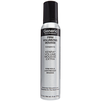 Generic Value Products Firm Volumizing Mousse compare to Kenra Extra Volumizing Mousse Spray