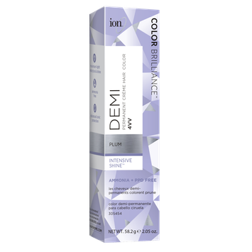 Ion Intensive Shine 4VV Plum Demi Permanent Creme Hair Color
