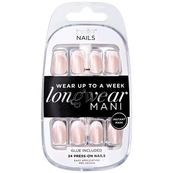 Bella Nails Airbrush Tip & Pink Opal Base Press On Nails