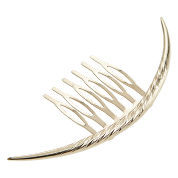 Dcnl Curved Metal Hair Comb