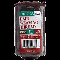 Donna Hair Weaving Thread 131 Yards Brown