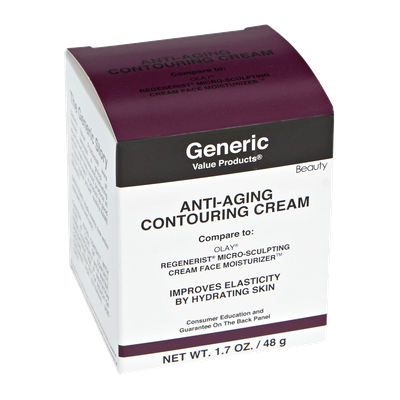 Generic Value Products Anti-Aging Contouring Cream Compare to Olay Regenerist Micro-Sculpting Cream Face Moisturizer
