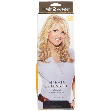 Hair2wear Christie Brinkley Collection 16 Inch Clip-In Hair Extension in Darkest Brown