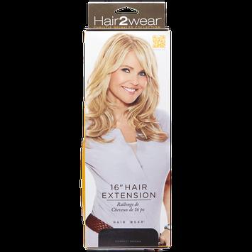 Hair2wear Christie Brinkley Collection 16 Inch Clip-In Hair Extension in Darkest Brown