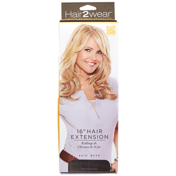 Hair2wear Christie Brinkley Collection 16 Inch Clip-In Hair Extension in Medium Brown