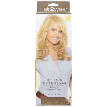 Hair2wear Christie Brinkley Collection 16 Inch Clip-In Hair Extension in Dark Blonde
