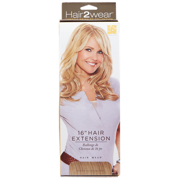 Hair2wear Christie Brinkley Collection 16 Inch Clip-In Hair Extension COLOR SELECTED: HT25 (Medium G