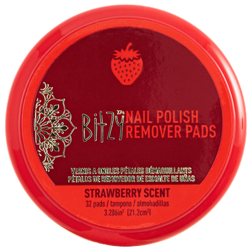Bitzy Scented Strawberry Nail Polish Remover Petals