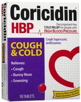 Coricidin HBP Cough & Cold Tablets, 16 ct