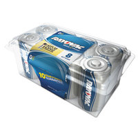 Rayovac 8-Pack D Alkaline Battery 813-8PPJ