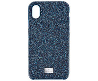 Swarovski Swarovski High Smartphone Case with Bumper, iPhone ® X, Blue Stainless steel