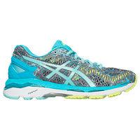 Asics Women's GEL-Kayano 23 Running Shoes - Shark/Aruba Blue/Aquarium - 9