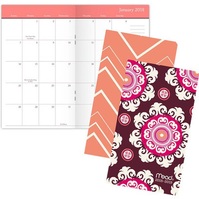 Mead Capice 2-Year Monthly Pocket Planner - 2 Year Pocket Planners