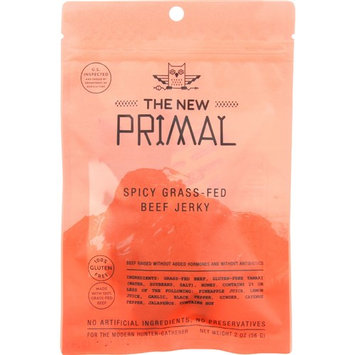 The New Primal Beef Jerky - Spicy - Gluten Free - 2 oz - case of 8 Protein Snacks