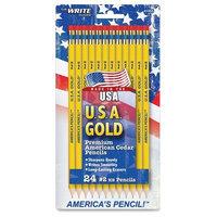 USA GOLD SERIES #2 PENCILS, CEDAR, YELLOW, 24/PK