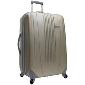 Traveler's Choice Travel/Luggage Case (Roller) for Travel Essential - Gold - Scratch Resistant - Acrylonitrile Butadiene Styrene (ABS) - Handle