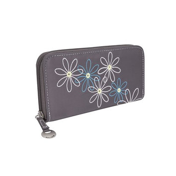 Travelon Safe Id Daisy Ladies Travel Wallet Grey