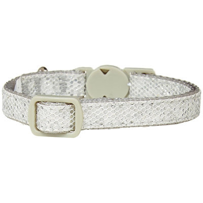 SimplyCat Cat Collar - Silver Sparkle