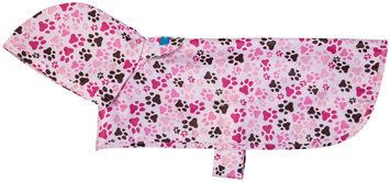 Rc Pet Products Usa RC Pet Packable Rain Poncho XL PITTER PATTER PINK