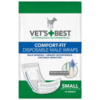 Vet's Best Comfort-Fit Disposable Male Wraps Small 12ct