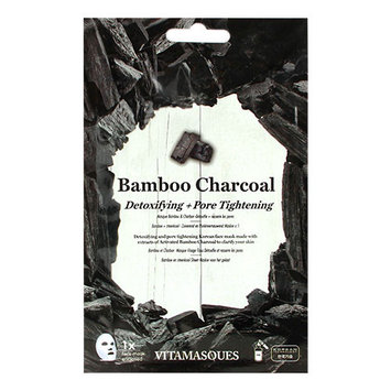 VITAMASQUES Bamboo Charcoal Detoxifying and Pore Tightening Face Mask